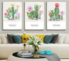 XXL <b>Modern Minimalist Nordic Abstraction</b> Letters Cactus 3 pcs ...