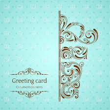 greeting card templates free turquoise vintage greeting card template with ornamental gift box