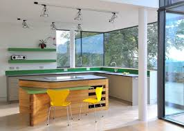 Image Bathroom View In Gallery Spotlights In Kitchen With Green Accents Decoist 20 Rooms With Ceiling Spotlights
