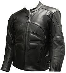 mens black sports leather motorcycle jacket