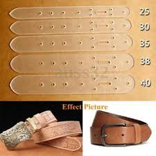 Leather Templates 5x Leather Craft Clear Acrylic Belt Buckle Head End Templates