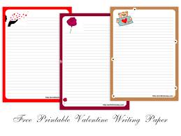 Free Writing Paper Free Printable Valentine Writing Paper Stationery