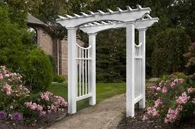 white garden arbor plans and romantic arbor garden plan