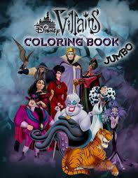 1000 plus free coloring pages for kids to enjoy the fun of coloring including disney movie coloring pictures and kids favorite cartoon characters. Disney Villains Coloring Book Disney Villains Jumbo Coloring Book For Kids Ages 3 8 Buy Online In India At Desertcart In Productid 122285463