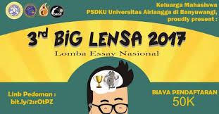 national essay competition rd big lensa in banyuwangi  national essay competition 3rd big lensa 2017 in banyuwangi