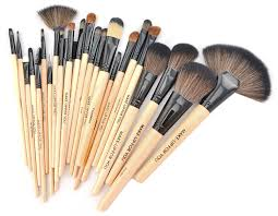 24 pcs professional makeup brush kit brushes sets cosmetic good quality pu leather bag cs024 in