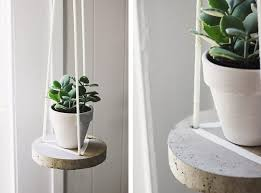 DIY Round Concrete Hanging Planter