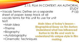 lesson director s style authorial study ppt video online  2 2 13