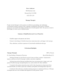 Message Therapy Resume