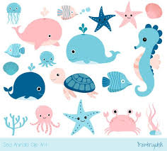 cute sea animals clipart. Beautiful Animals Image 0 On Cute Sea Animals Clipart Etsy