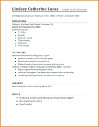 High School Student Resume Magnificent Resume For Student Job