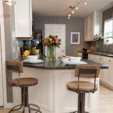 kitchen with track lighting. Wonderful Track Gray Traditional Kitchen With Breakfast Bar And Track Lighting K