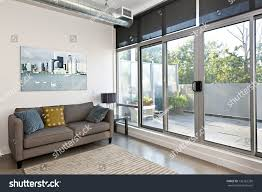 Living Room Balcony Door Design Living Room Sliding Glass Door Balcony Stock Photo Edit Now