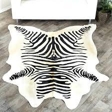zebra cowhide rug print black on natural white uk zebra cowhide rug