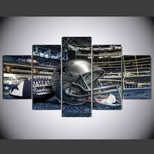modern wall art home decor painting 5 piece no frame dallas cowboys football helmet pictures for on dallas cowboys logo wall art with modern wall art home decor painting 5 piece no frame dallas cowboys