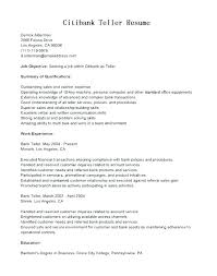 Bank Teller Job Description Resume. Teller Job Resume For Teller Job ...