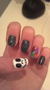 Halloween Nightmare Before Christmas Nail Art by dyingxalicex on ...