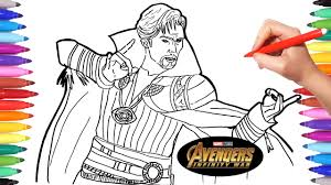 Avengers Infinity War Doctor Strange Avengers Coloring Pages