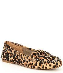 Jack Rogers Millie Leopard Print Calf Hair Moccasins