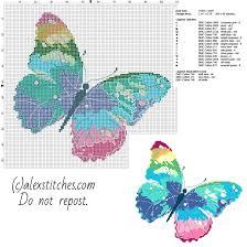 Cross Stitch Free Patterns Custom A Multicolored Butterfly Free Pcstitch Cross Stitch Pattern Free