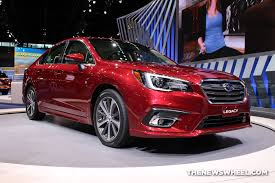 2018 subaru legacy limited. modren 2018 2018 subaru legacy 36r limited red sedan car on display chicago auto show  2  the news wheel in subaru legacy limited