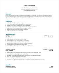 Volunteer Resume Template Volunteer Firefighter Resume Volunteer New Resume Volunteer Experience