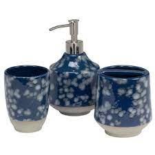 Blue Bathroom Decor Bathroom Accessories The Home Depot
