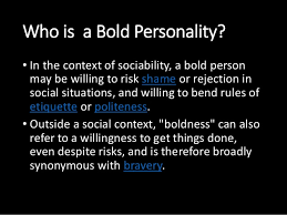 bold personality test