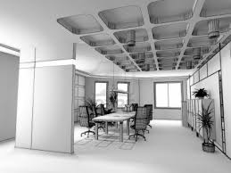 modern interior office stock. The Modern Office Interior Design Sketch Render) Stock Photo I