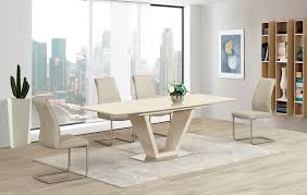 Extendable Glass Dining Table Set Apse Co