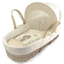 kinder valley tiny ted moses basket cream co uk baby