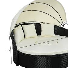 daybed patio sofa furniture round