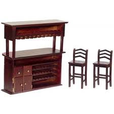 house bar furniture. Melody Jane Dolls House Mahogany Bar \u0026 Stools Rustic Miniature Pub Furniture