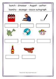 Ch, sh, th, wh and ph. Au Sound Worksheet