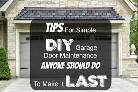 diy garage doorDIY Garage Door Maintenance To Help It Last As Long As Possible