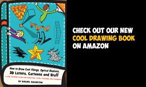 kids drawing book for learning how to draw cool stuff things optical illusions