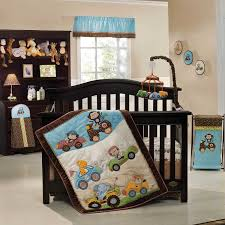 cute design ideas convertible furniture. Adorable Baby Crib Bedding Set With Classic Dark Brown Convertible Plus Blue Over Valance White Window In Boy Nursery Furnishing Ideas Cute Design Furniture L