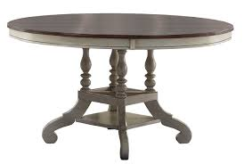 hilale pine island round dining table old white