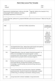Sample Blank Lesson Plan Template Free Download Teacher Printable ...