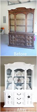 white furniture shabby chic.  Chic Give An Old China Closet A Coat Of White Paint To Furniture Shabby Chic
