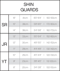 Shin Guard Size Chart Soccer Best Picture Of Chart