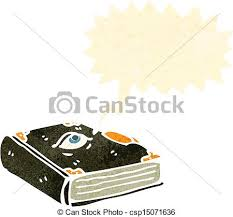 retro cartoon spell book csp15071636