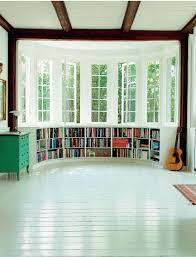 a bay window could even become a small home library with lots of storage space