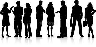女の子 ビジネスマン ビジネスウーマン シルエット ビジネスチーム 会話