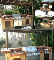 Outdoor Kitchen Designs With Pool Fascinating Outdoor Kitchen Bar With Pergola Barbecue Montana 48 Burners Amazing
