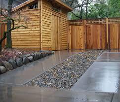 Pebble U0026 Concrete Strip Driveway  This Driveway Is A Great Backyard Driveway Ideas