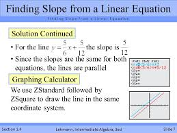 finding slope from a linear equation