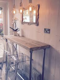 style whitewashed reclaimed wood scaffold breakfast bar licious table sets for kitchen and furniture with stools