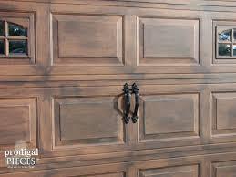paint a metal garage door to look like wood ideas