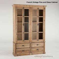 dining room display cabinets ebay. new french vintage pine and glass curio display cabinet dining room furniture cabinets ebay i